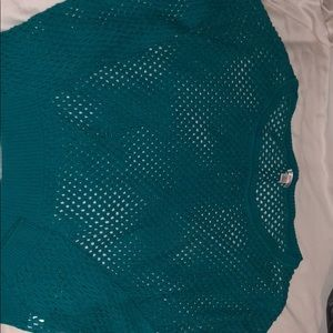 Sweaters - Fishnet spring top